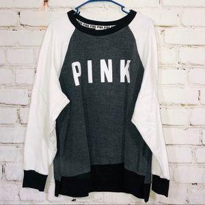 Pink Victoria's Secret sweatshirt top large